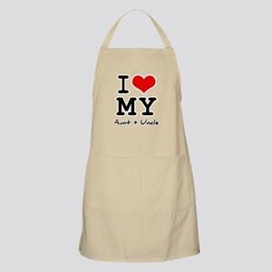 I love my aunt + uncle BBQ Apron