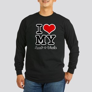 I love my aunt + uncle Long Sleeve Dark T-Shirt