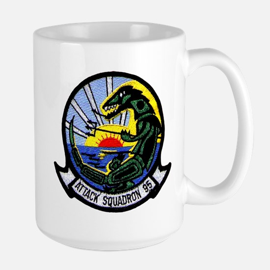 VA 95 Green Lizards Large Mug