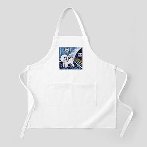 Bichon Frise cs moon BBQ Apron