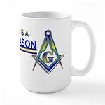 Masonic Fathers Day Large Mug