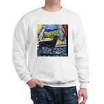 hungry ROTTWEILER begs Sweatshirt
