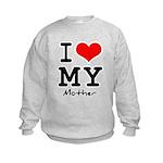 I love my mother Kids Sweatshirt