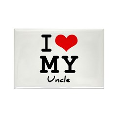 I love my uncle Rectangle Magnet