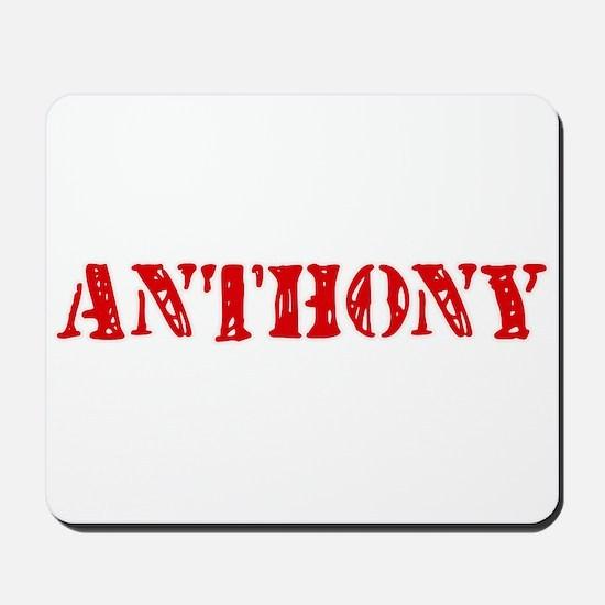 Anthony Retro Stencil Design Mousepad