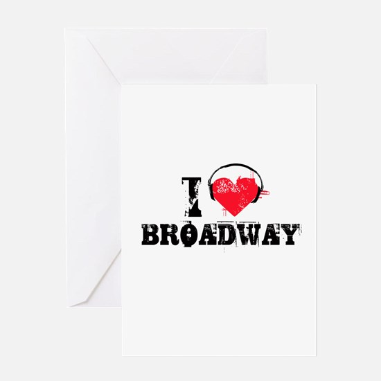 I love broadway Greeting Card