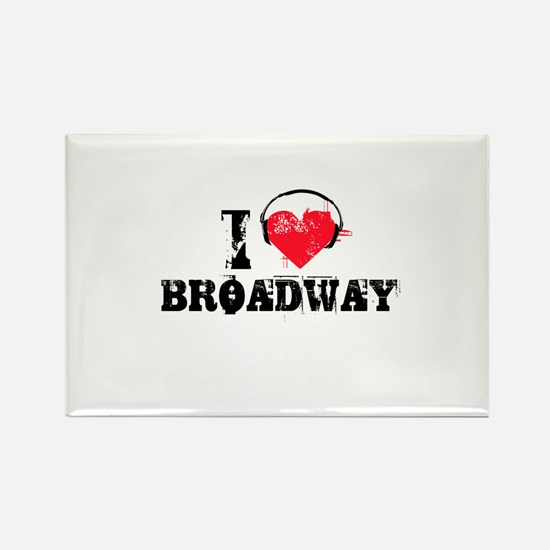 I love broadway Rectangle Magnet