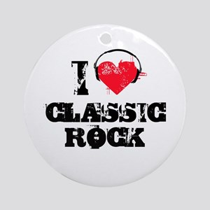 I love classic rock Ornament (Round)