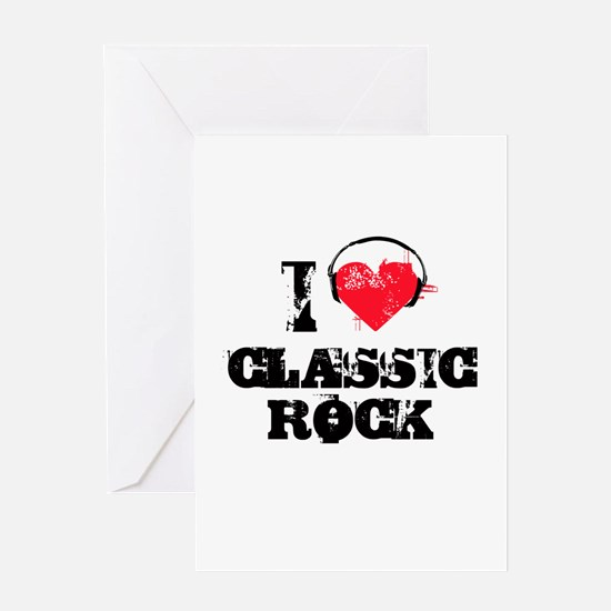 I love classic rock Greeting Card