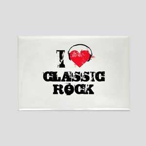 I love classic rock Rectangle Magnet
