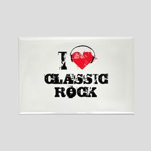 I love classic rock Rectangle Magnet