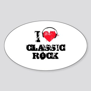 I love classic rock Oval Sticker