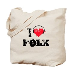 I love folk Tote Bag