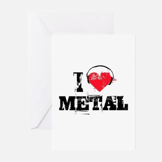 I love metal Greeting Cards (Pk of 10)