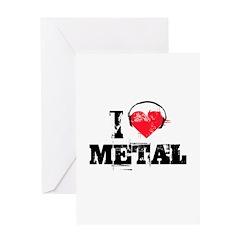 I love metal Greeting Card
