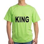 King (Front) Green T-Shirt