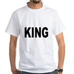King (Front) White T-Shirt