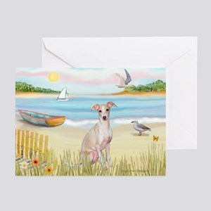 Rowboat / Italian Greyhound (#5) Greeting Cards (P