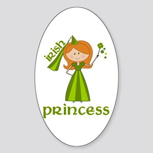 irish princess Oval Sticker
