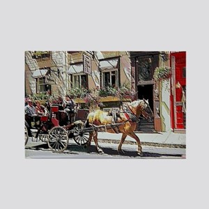 Horse Carriage Rectangle Magnet