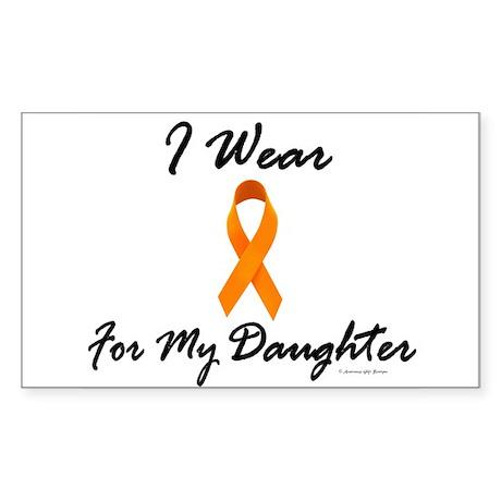 I Wear Orange For My Daughter 1 Sticker (Rectangul