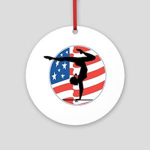 U.S.A Gymnastics Ornament (Round)