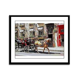 Horse Carriage Framed Panel Print