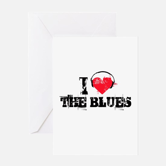 I love the blues Greeting Card