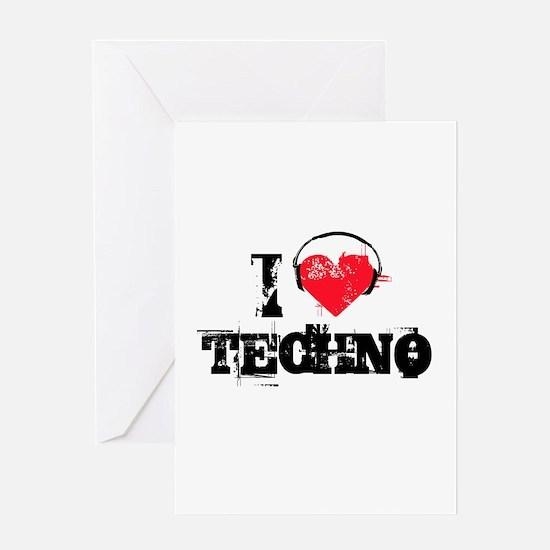 I love techno Greeting Card