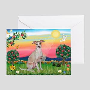 Bright Country / Italian Greyhound Greeting Card