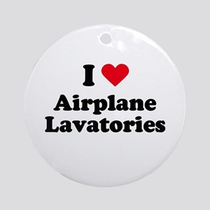 I love airplane lavatories Ornament (Round)
