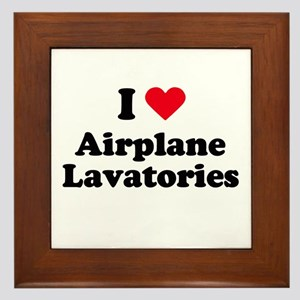 I love airplane lavatories Framed Tile