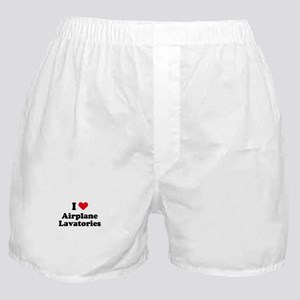 I love airplane lavatories Boxer Shorts