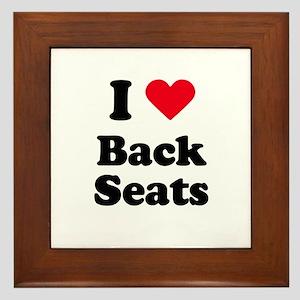I love back seats Framed Tile