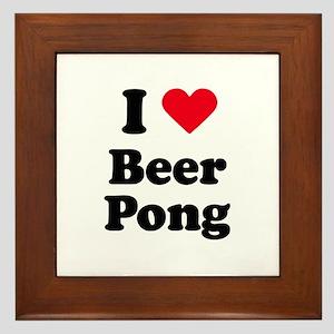 I love beer pong Framed Tile