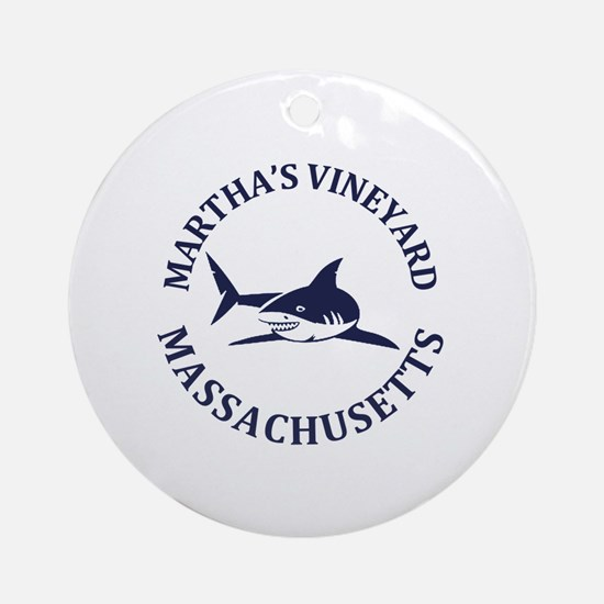 Cute Marthas vineyard Round Ornament