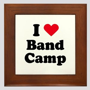 I love band camp Framed Tile