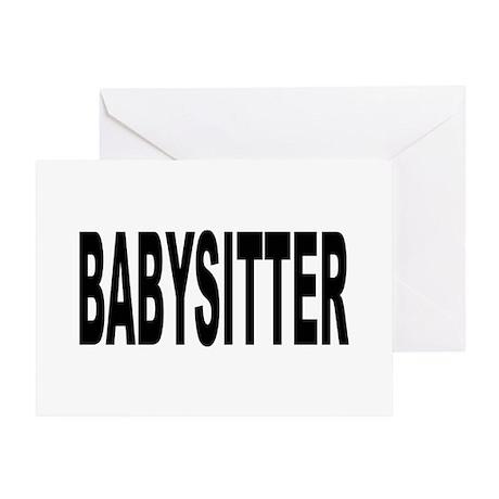 babysitter cards