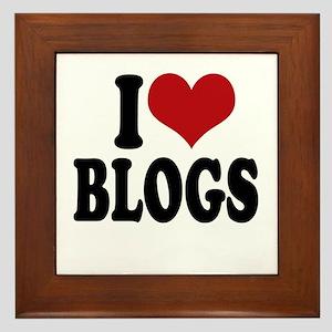 I love blogs Framed Tile