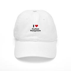 I love carbon footprints Baseball Cap