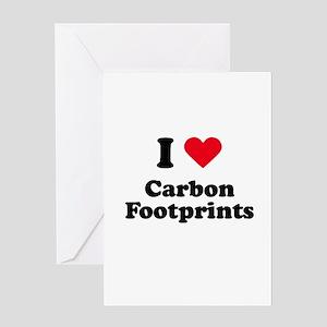 I love carbon footprints Greeting Card