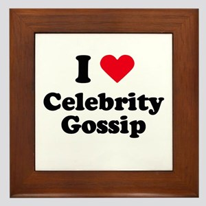 I love celebrity gossip Framed Tile