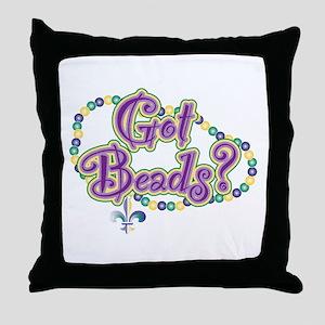 Got Beads? (mg) Throw Pillow