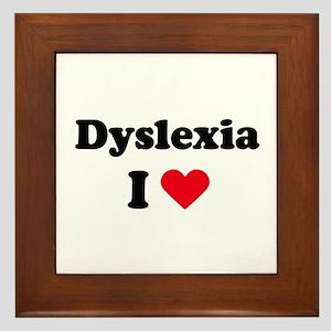 I dyslexia love / I love dyslexia Framed Tile