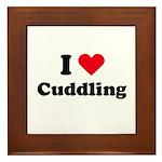 I love cuddling Framed Tile