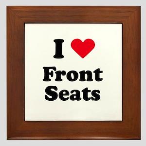 I love front seats Framed Tile
