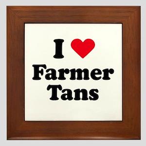I love farmer tans Framed Tile