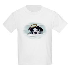 MOMMYS ANGEL BOSTON TERRIER Kids T-Shirt