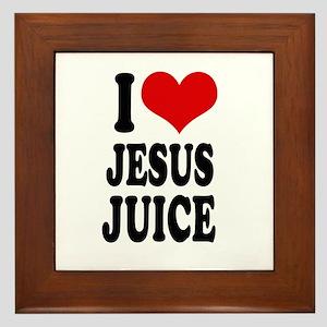 I love jesus juice Framed Tile