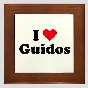 I love guidos Framed Tile